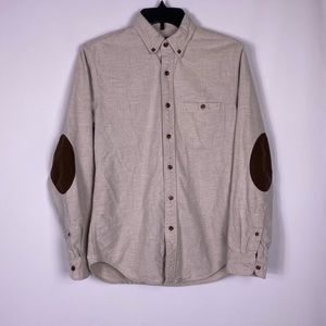 J. Crew rugged flannel elbow patch button shirt